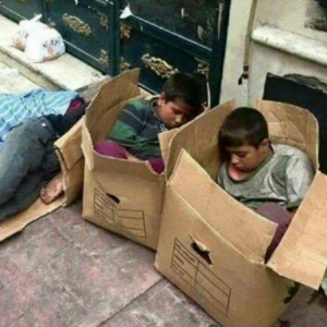Homeless kids in Iran