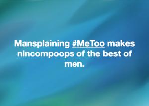 Mansplaining MeToo meme