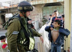 Palestinian boy at check point Jan 22 2018