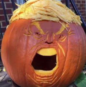 Pumpkin head Trump