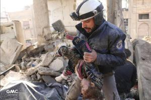 Russian bombing of Hmouriya (Muhammad Najem) Jan 7 2018