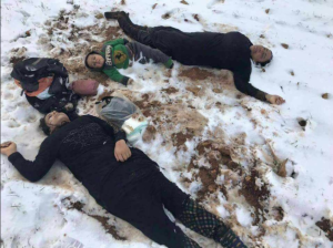 SYRIAN family that froze to death on Syrian-Lebanon border Jan 19 2018