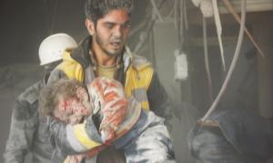 Arbin city, Eastern Ghouta Feb 8 2018 (White Helmets) Feb 14 2018