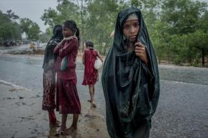 Children near the Kutupalong camp in September. Credit Tomas Munita for New York Times Feb 15 2018