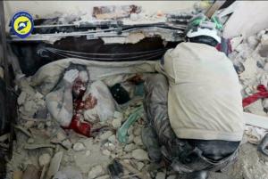 E. Ghouta buried in rubble Feb 22 2018 (White Helmets) Feb 22 2018