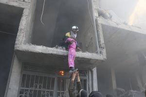 Hamorya City, eastern Ghouta Feb 20 2018 (White Helmets) Feb 21 2018
