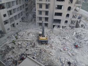 Idlib Syria after Russian bombing Feb 5 2018