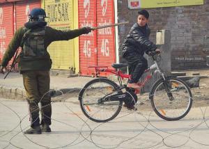 Kashmir occupation and boy biker (Soan Kashmir on  FB) Feb 17 2018