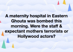 Maternity hospital bombing meme Feb 25 2018