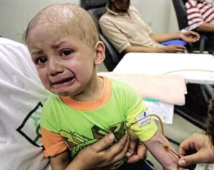 Palestinian child with cancer Feb 3 2018