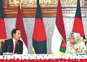 Sheikh Hasina & Indonesian pres. Joko Widodo (PID) Feb 6 2018
