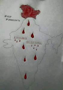 Kashmir bleeding drawing (Nazir Ahmad) Mar 5 2018