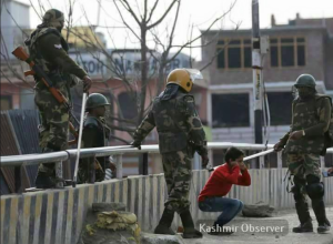 Kashmir bullying kid (Kadshmir Observer) Mar 29 2017