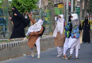 Kashmiri women protesting (Al Jazeera)