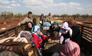 Kurds fleeing Afrin (Nazeer Al-Khatib:AFP:Getty Images) Mar 19 2018
