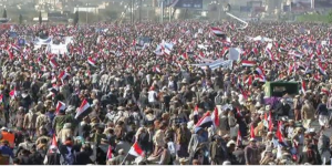 Sana'a antiwar protest Mar 26 2018--3rd anniversary of war
