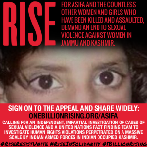 Asifa one billion rising campaign poster