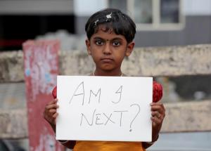 Asifa rally in Kochi, India (Sharam V:Reuters) Apr 20 2018