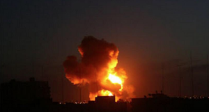 Bombing Gaza April 27 2018