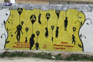 Graphite painting in Kufrenbel city Apr 11 2018
