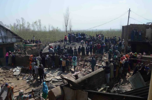 House destruction in Apr 1 Shopian encounter (Kashmir Xpress News) Apr 2 2018