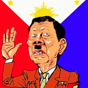 Rodrigo Duterte caricature by takeshioekaki April 6 2018