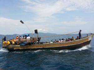 Rohingya boat (ROYAL THAI ARMY : HANDOUT : VIA AFP-JIJI) Apr 2 2018