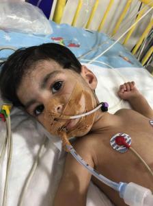Amal Muhammad Felfel 14 months in West Bank hospital (May 17 2018