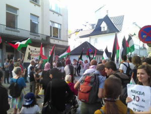 Bergen, Norway stands with Palestine May 15 2018