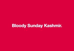 Bloody Sunday Kashmir meme