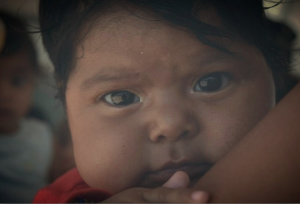 Central American infant on caravan Apr 30 2018
