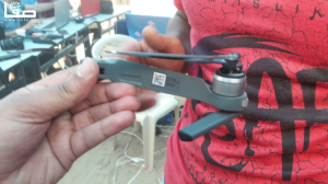 Drone downed by stone pelters at GRM May 4 2018 (Karim #GRM on Twitter) May 4 2018