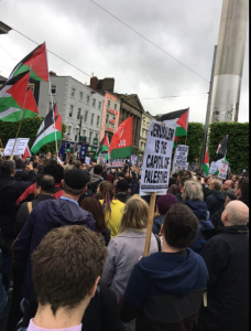Dublin Ireland stands with Palestine May 15 2018