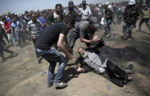 Elderly Pal man shot in foot (Palestine Info Center) May 15 2018