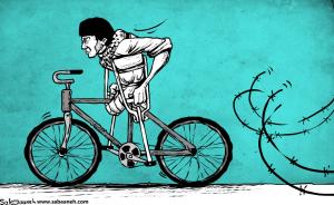 Giro d'Italia 2018 (Sabaaneh, Palestinian cartoonist) May 6 2018