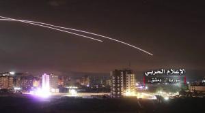 Israel hitting Damascus May 9 2018 (AP)