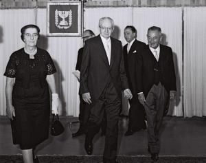 Israeli foreign minister Golda Meir, president Yitzhak Ben-Zvi, Ricardo Wolf 1960: May 13 2018