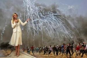 Ivanka in Jerusalem by Artists for Palestine UK May 14 2018