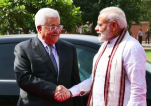 Modi and Abbas in New Delhi May 16 2017