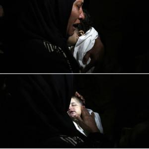 Mother of Laila Al-Ghandour RIP May 15 2018 (Mohammed Zannoun via Activestills) May 17 2018