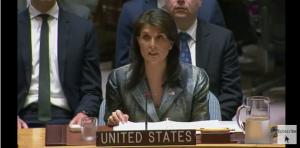 Nikki Haley at UN May 19 2018