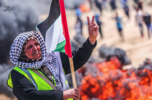 Pal woman at Great Return Maarch (Quds News Network) May 1 2018