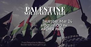 Palestine solidarity vigil McAllen May 24 2018