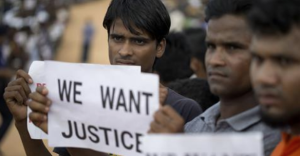Rohingya protest for UNSC delegation (Al Jazeera) May 2 2018