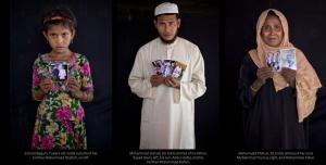 Rohingya refugees from Chut Pyin massacre in Arakan (WSJ) May 12 2018