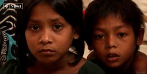 Rohingya refugees (screenshot from 4 News) Mar 27 2018