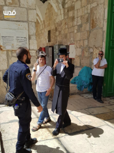 Settlers at Al Aqsa mosque today (DOAM) May 25 2018