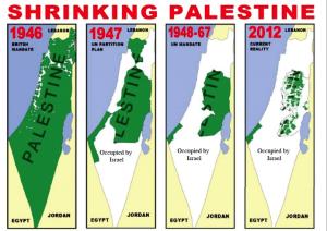 Shrinking Palestine map