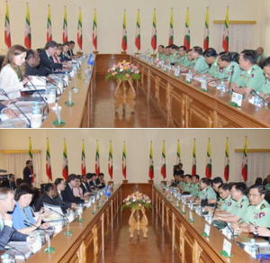 UNSC delegation in Burma May 2018