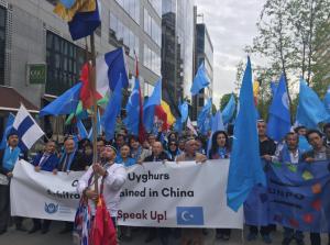 Uyghur protest in East Turkestan (Abdugheni Sabit on Twitter) May 11 2018